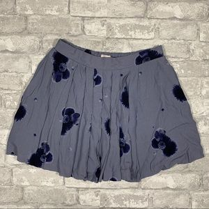 Aritzia Sunday Best Purple Pleated Flower Skirt